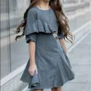 Girls Asymmetrical Ruffle Dress